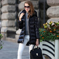 High Quality  New Designer Fashion Ladies Long Winter Overcoat Women Brand 90% White Duck Down Coat Jackets In Stock