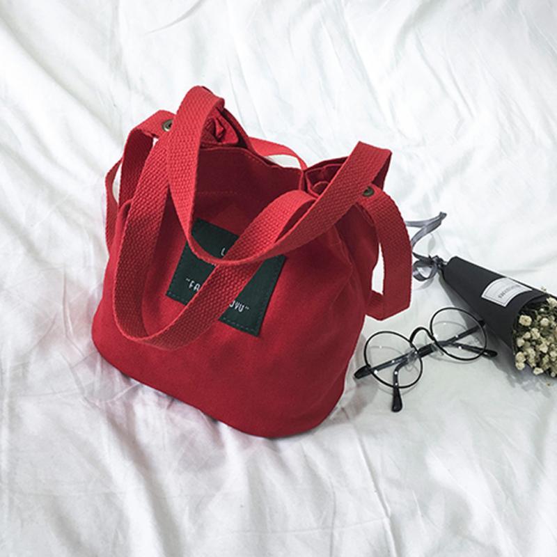 2018 Women Shoulder Bag Canvas Messenger Bags Bucket Handbags Mini Crossbody Bags For Girls Ladies Shopping Travel Bags Hot Sale