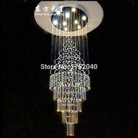 levels of crystal chandelier villa stairwell lamp large crystal chandelier for double entry building