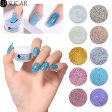 UR SUGAR 5ml Holographic Glitter Dipping Nail Powder Pigment Dust Dip Natural Dry Without Lamp Cure Decoration Nails