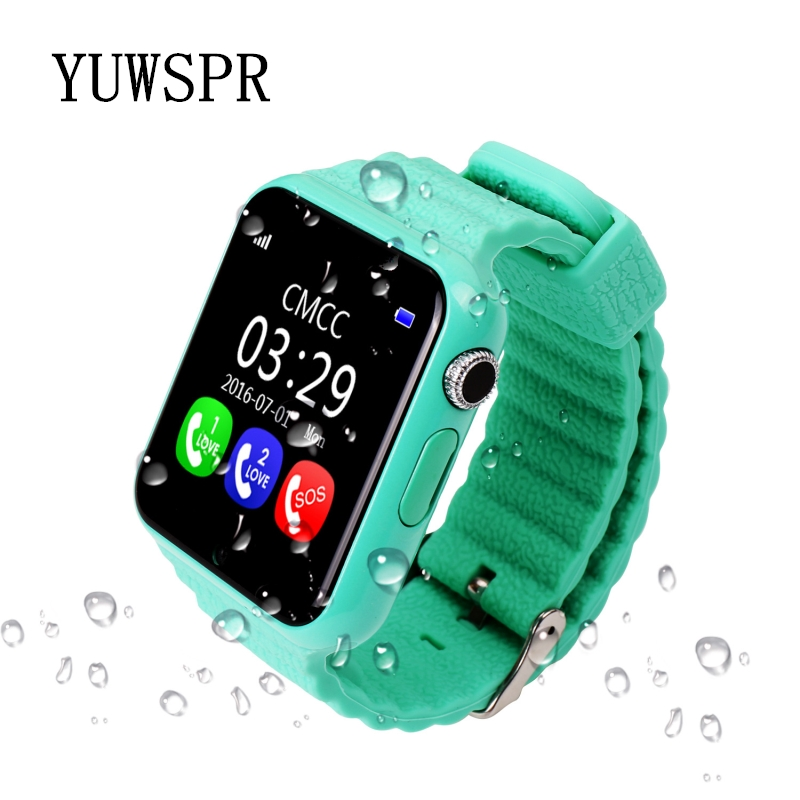 Watch Tracker Waterproof Children Gift Kids V7K 1PCS Devicer Camera Location Sos-Call