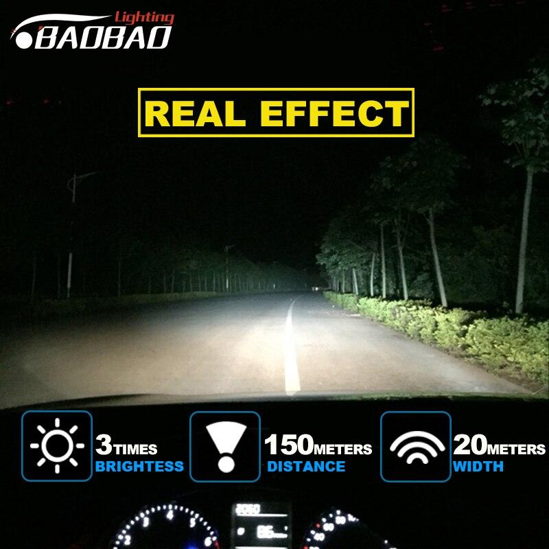 Baobao T1 Car Led Headlight Kit 60w 6000k Brightness And Energy