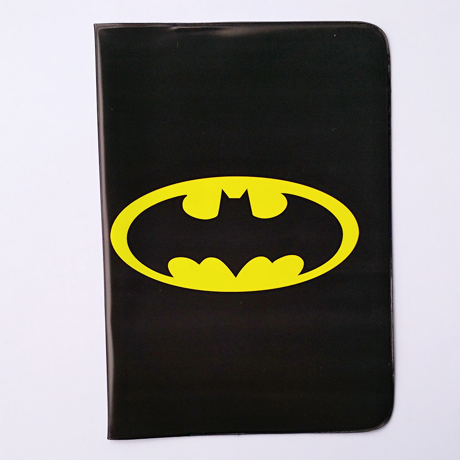 Popular Cartoon Black Thin Travel Passport Holder Cover  PVC Leather Passport Cover Bag Capa Para Passaporte 14*10CM