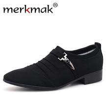 Merkmak Plus Size 38-48 Men Classic Business Office Oxford Shoes 2018