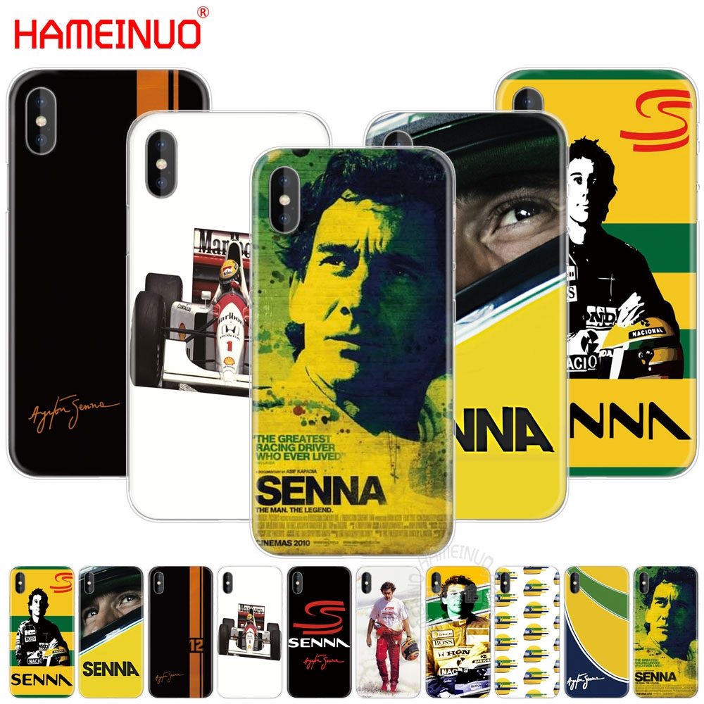 HAMEINUO ayrton senna racing cell phone Cover case for iphone X 8 7 6 4 4s 5 5s SE 5c 6s plus