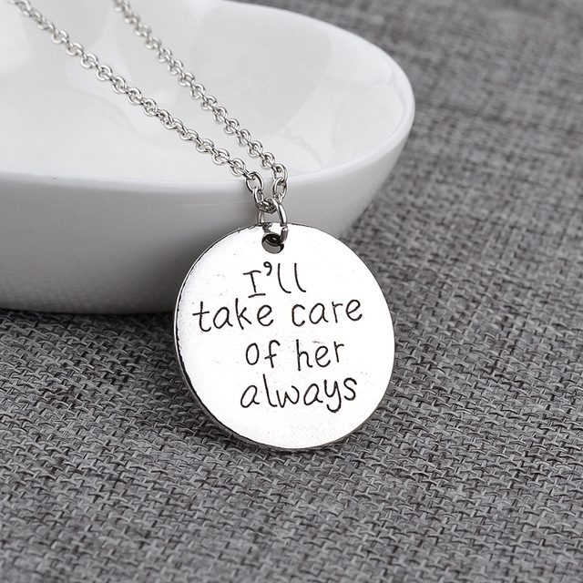 I will take Care of Her Cute Round Pendant