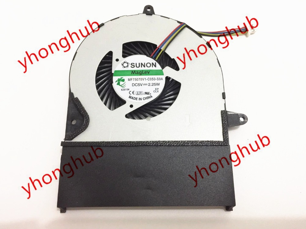 SUNON MF75070V1-C050-S9A DC 5V 2.25W 4-wire Server Laptop Fan free shipping for sunon kde0505phb2 dc 5v 1 9w 2 wire 3 pin 50x50x15mm server square fan
