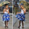 Африканские Платья Африканских Платье Ограниченной Спандекс Девушки Халат Africaine 2016 Новые Печати Детская Одежда