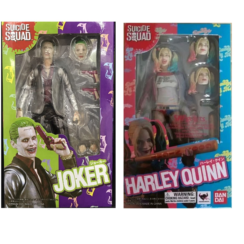16cm Shf Suicide Squad Harley Quinn Joker Figma Jointed Action Figures Toy Kids Christmas Gift Doll suicide squad batman begins harley quinn figure arkham city with baseball bat and gun action figures model toy doll gift