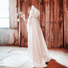 2018 New Bridal Cape Winter Women's Jacket Wedding Cloaks Long Faux Fur Shawl