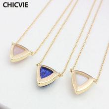 Chicvie простые ожерелья из натурального камня романтичные золотого