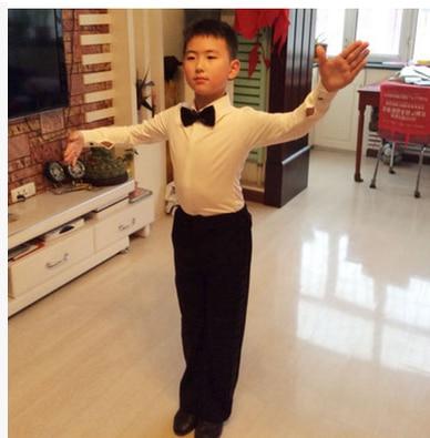 3d6c5897c6992 ballroom shirts dancing clothes dance costumes for boys boy children latin  child shirts white kids modern mens tango dancing