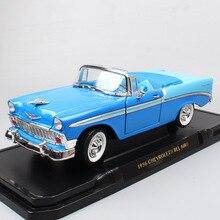 1/18 grande vintage 1956 CHEVROLET Chevy BEL AIR Hardtop músculo fundido a presión vehículos miniaturas escala modelos de coche juguete hobby de chico