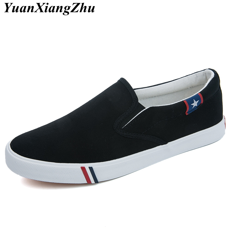 Image 3 - Men Canvas Shoes Simple Casual Mens Loafers 2019 Autumn High Quality Anti Slip Comfortable Vulcanized Shoes Man Flats Size 35 47-in Men's Casual Shoes from Shoes