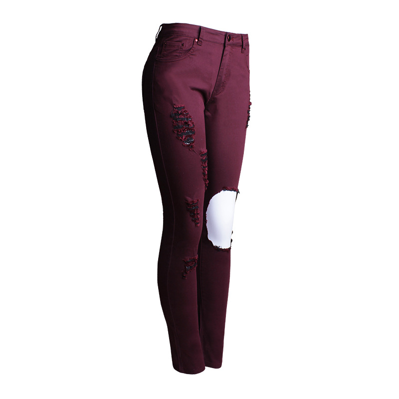 Aliexpress.com : Buy Newest Fashion Women Jeans High Waist Hole ...