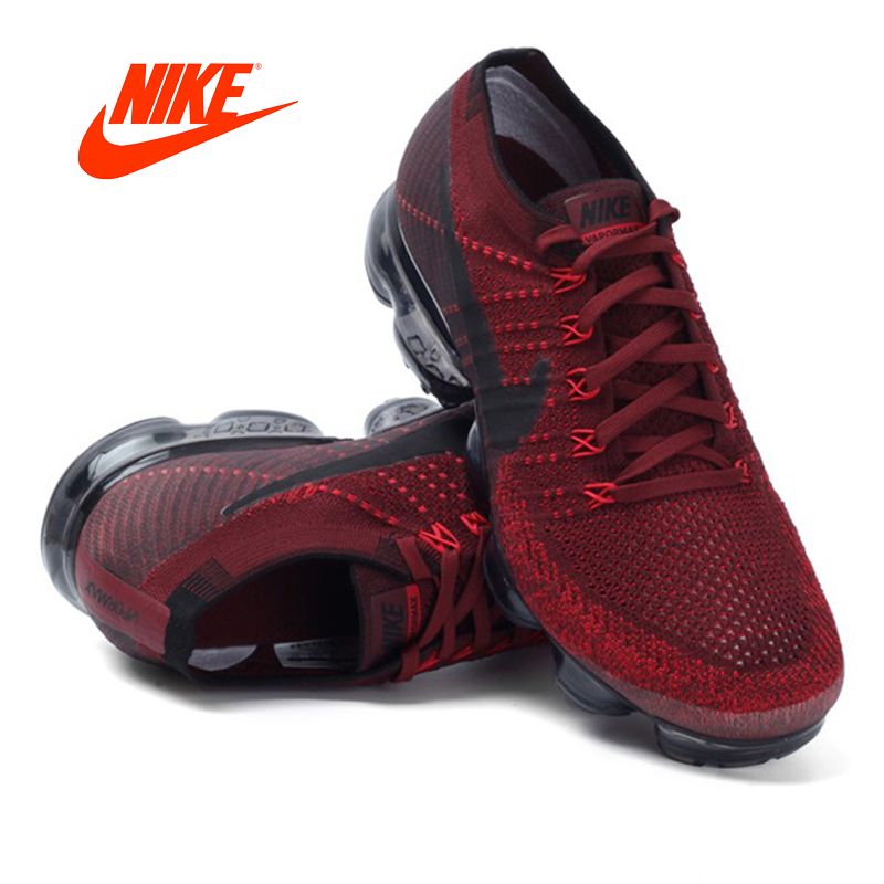 10bafe23916 Original Authentic Nike Air VaporMax Flyknit Running Shoes Men Breathable  Athletic Mesh Sneakers Classic Shoes Comfortable