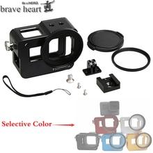 Чехол brave heart new hero 5, алюминиевый корпус, чехол+ УФ-фильтр для Gopro hero 5 hero 5 black, аксессуары для камеры