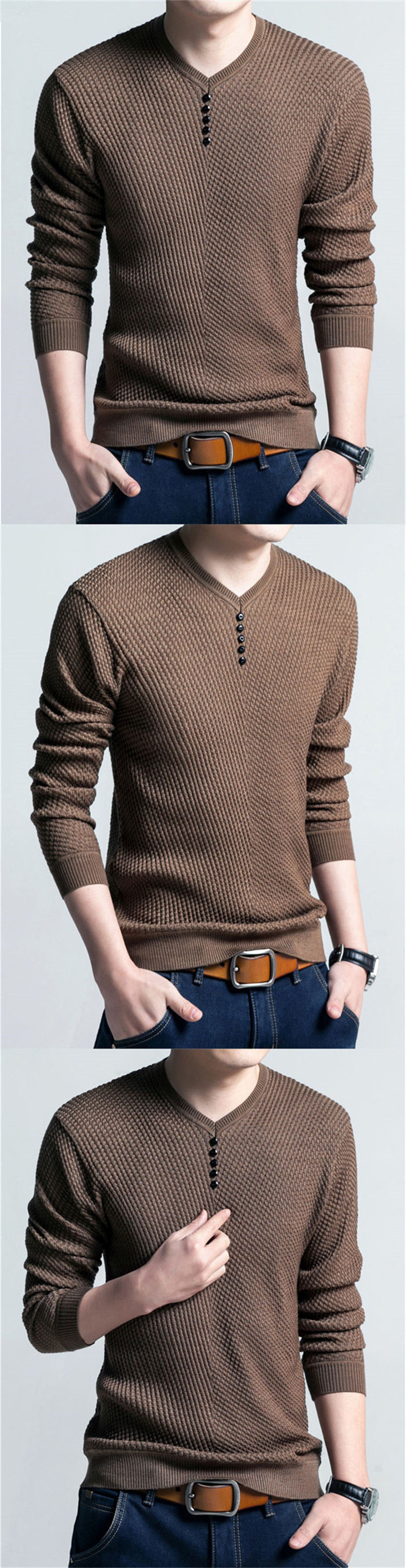 COODRONY Sweater Men Casual V-Neck Pullover Men Autumn Slim Fit Long Sleeve Shirt Mens Sweaters Knitted Cashmere Wool Pull Homme 5
