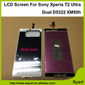 100% Testado alta qualidade Hot 6.0 polegada Novo Display 1280x720 para sony xperia t2 ultra dual d5322 xm50h tela sensível ao toque digitalizador