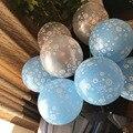 12 Шт./лот Снег Снежинка Латекс Печатных Воздушные Шары Баллон Рождество Хэллоуин Свадьба День Рождения Украшения Поставки Надувные Игрушки