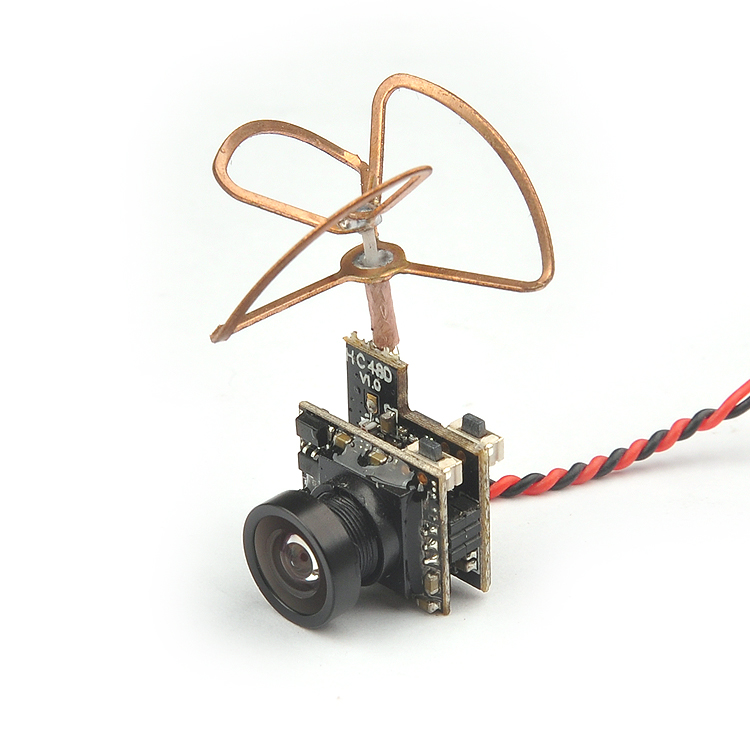 F19128 5.8G 25mW 48CH Mini Tiny 520TVL Camera HC25 Build-in FPV Transmitter Antenna for Indoor 80 90 100 Brushed Racing Drone salmo tiny f