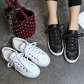 2017 New Fashion High quality leisure classic Breathable Lace-up Genuine Leather women's flats shoes