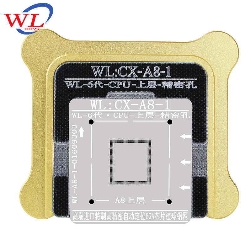 WL Best for iphone 6 6s 6sp Plus CPU NAND A7 A8 A9 A10 processor BGA reball Tin Net Stencil Great Repairing Tool wl v911 black remoter controller motor battery upgrades accessories for wl v911 parts free shipping