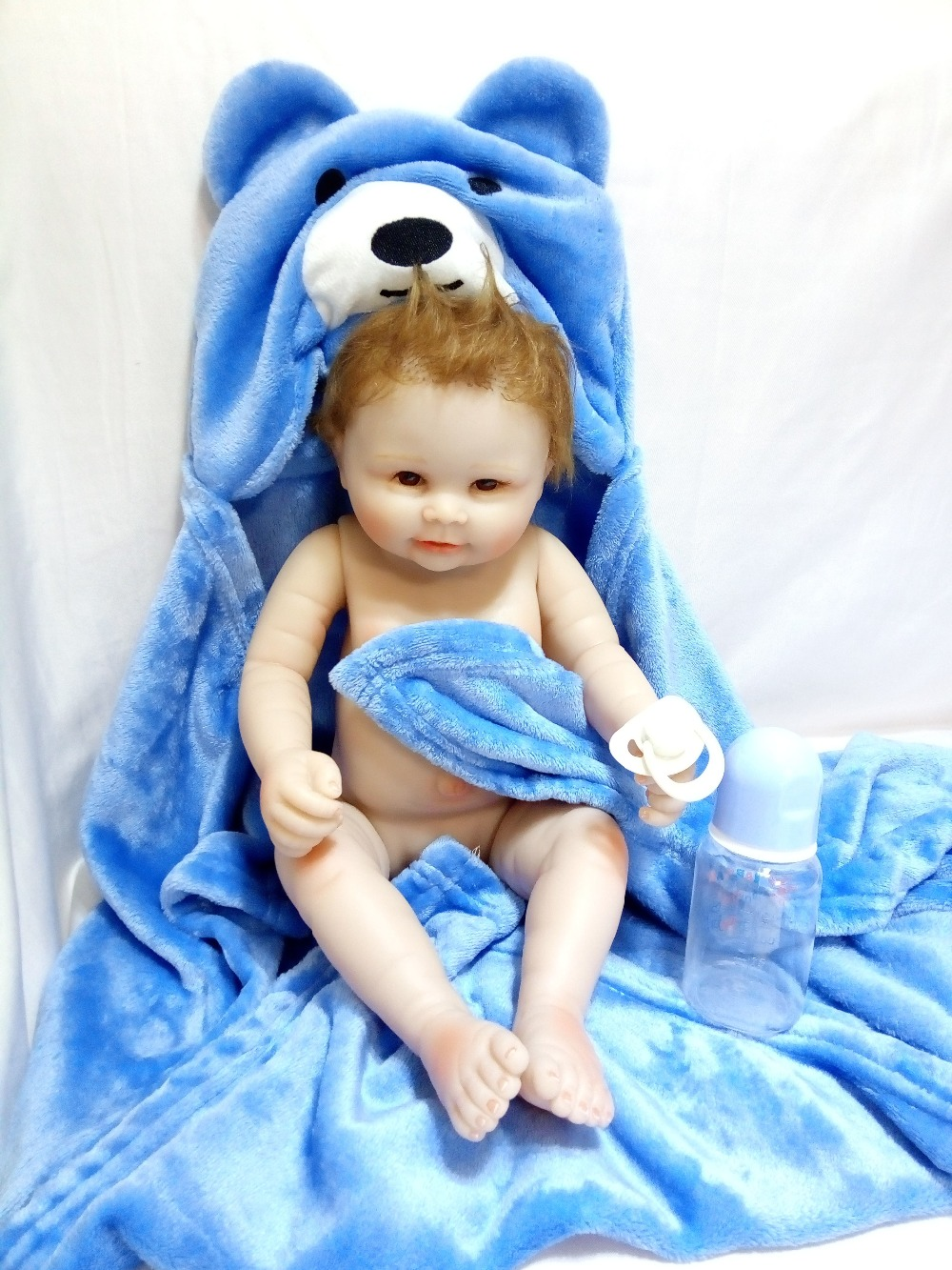 20 Inch Full Vinyl Dolls For Girls Toys Silicone Reborn Baby Boy Doll 50 CM Tiger Toy Girl Children's Birthday Gifts For Mom