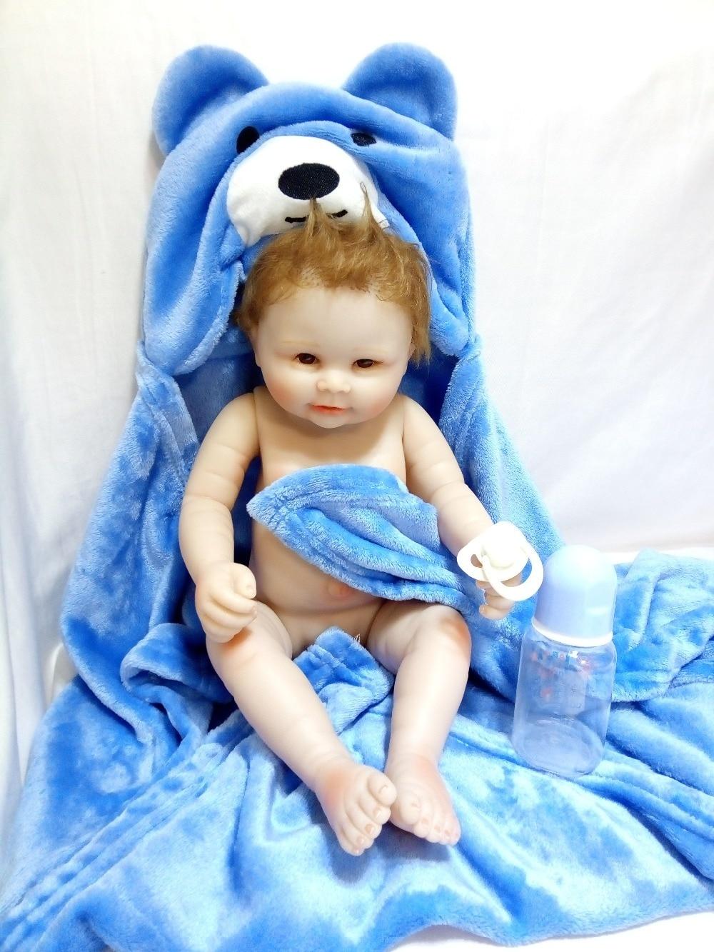20 дюймов полный винил куклы для девочек игрушки силиконовые reborn baby boy Кукла 50 см игрушка тигр-девочка детская подарки на день рождения для ма...