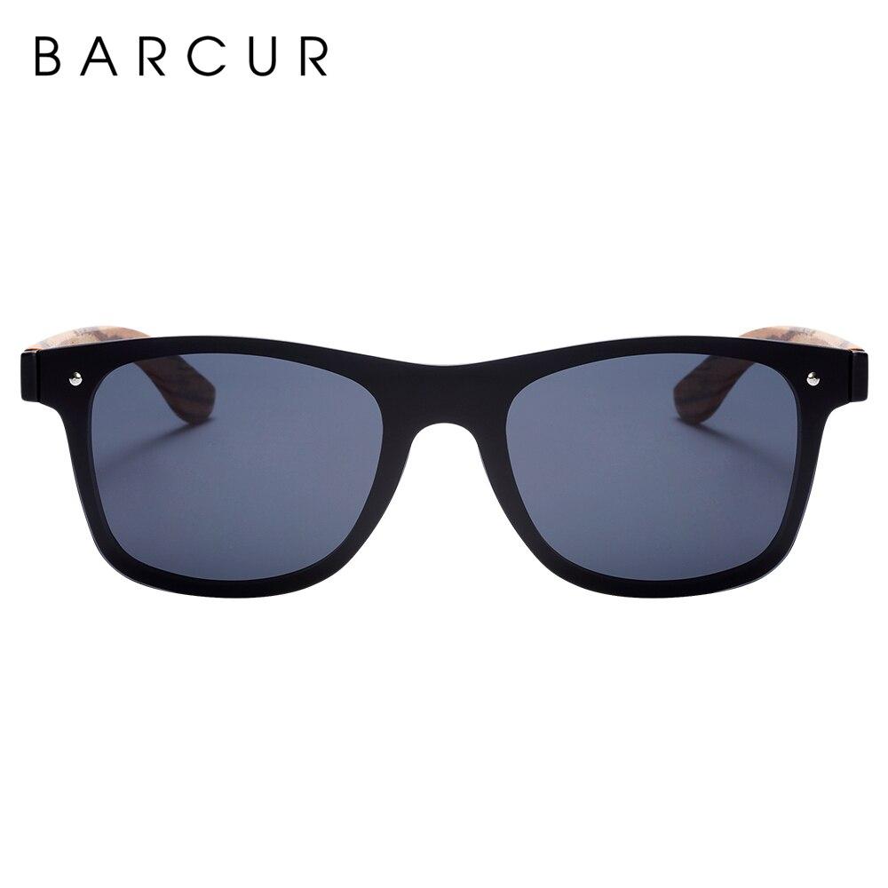 BARCUR Luxury Vintage Sun Shade Men Wooden Sunglasses UV400 Protection Fashion Square Sun glasses Women 3