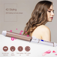 19mm,25mm,32mm Hair Curler Ceramic Curling Iron Wand Temperature Adjusted