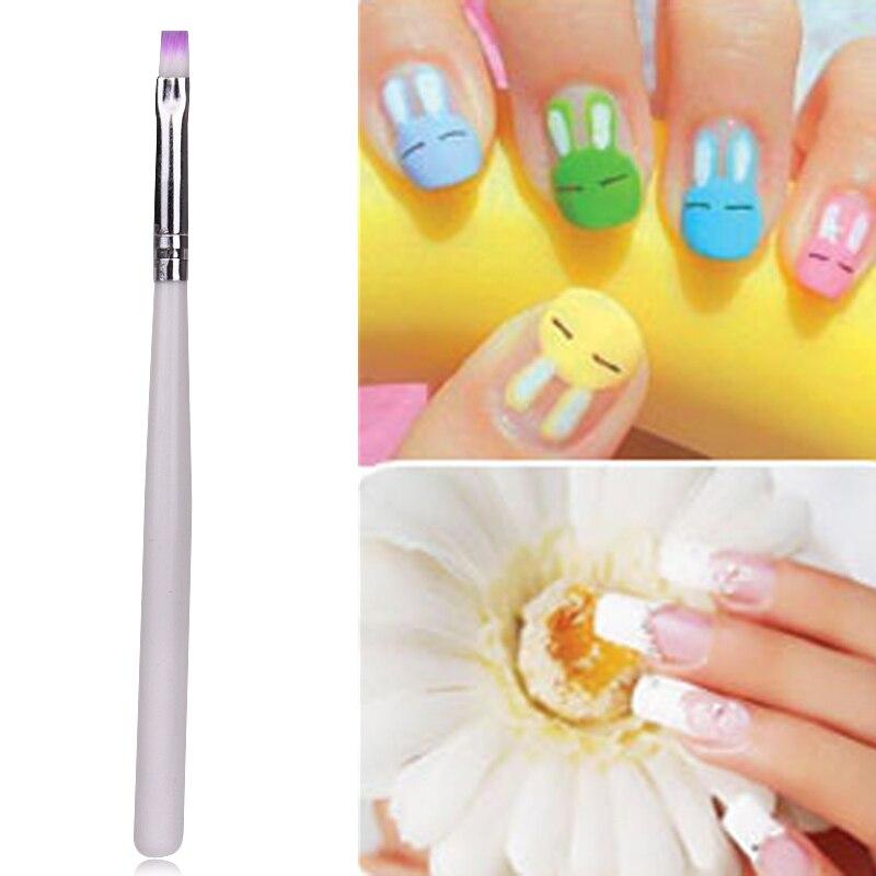 1PC Comestic Gadget Acrylic Painting Pen False Nail Tips UV Gel Nail ...