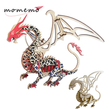 MOMEMO 2 Kind Dragon Model Diy 3D Wooden Puzzles Creative Assembaly Puzzle Toys Children Teens Adult Wood