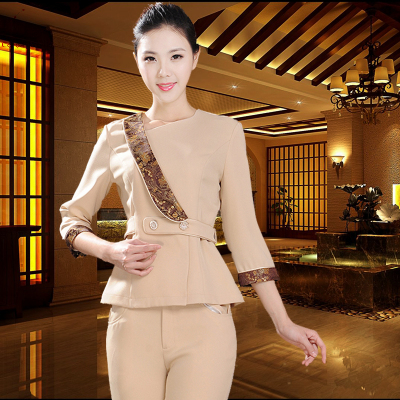 Beauty salon Chinese health club work clothes Thai massage technician custom SPA clothes in Nurse Uniform from Novelty Special Use