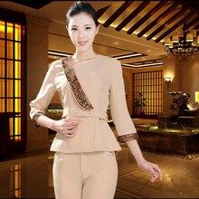 Beauty salon Chinese health club work clothes Thai massage technician custom SPA clothes