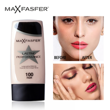 MAXFASFERX Face Liquid Foundation Makeup Base BB Cream Concealer Invisible Full Coverage Whitening Moisturizer Waterproof
