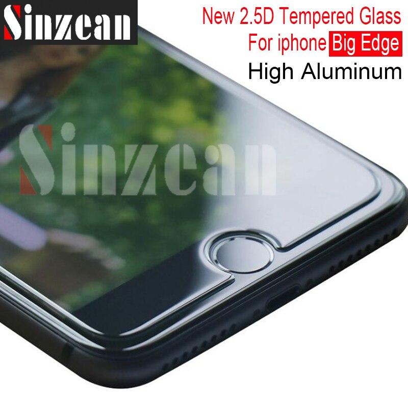 Sinzean 200pcs New 2 5D big edge High Aluminum For IPHONE XS MAX XR XS 6