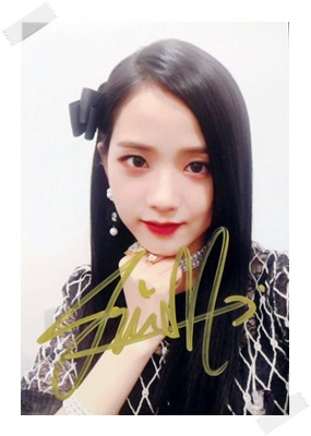 signed Blackpink Jisoo autographed group photo 6 inches freeshipping 3 versions 102017 signed tfboys jackson autographed photo 6 inches freeshipping 6 versions 082017 b