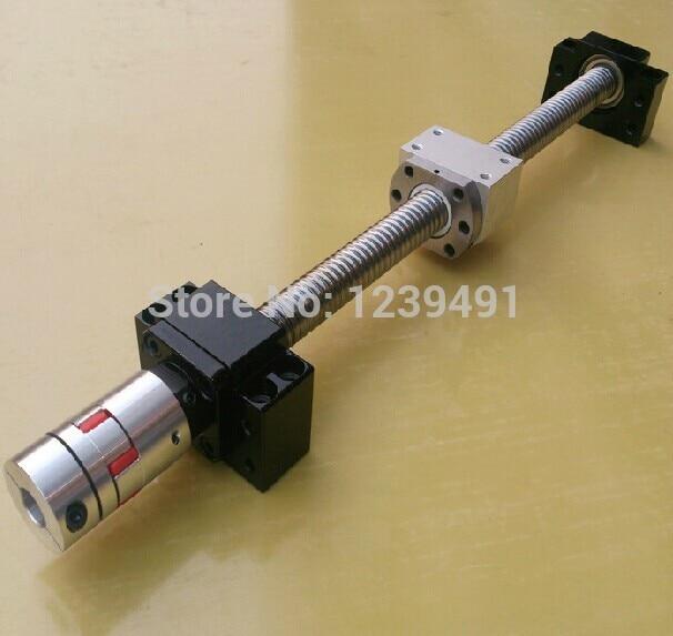 ФОТО ballscrew 1610 assembly - L900mm + Ballnut + BK12 BF12 End Support + 1610 Ballnut Housing + 6.35*10 Coupler