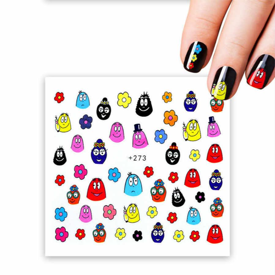 1 шт. продажа наклеек для ногтей Сейлор Мун накладные наконечники для ногтей прозрачный черный вентилятор искусство оформления ногтей Дисплей Практика акриловый УФ гель лак Инструменты