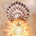 Новинка  настенные светильники в стиле «Павлин» для гостиной  спальни  гостиничного номера  с кристаллами  винтажные проектные настенные св...