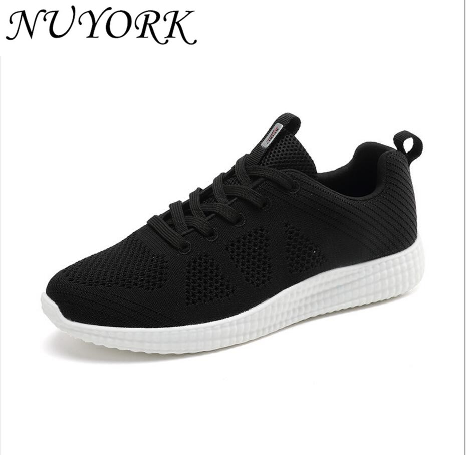 NUYORK New listing of Hot sales Summer Breathable Fly line women and men running shoes sneakers sports shoes 628