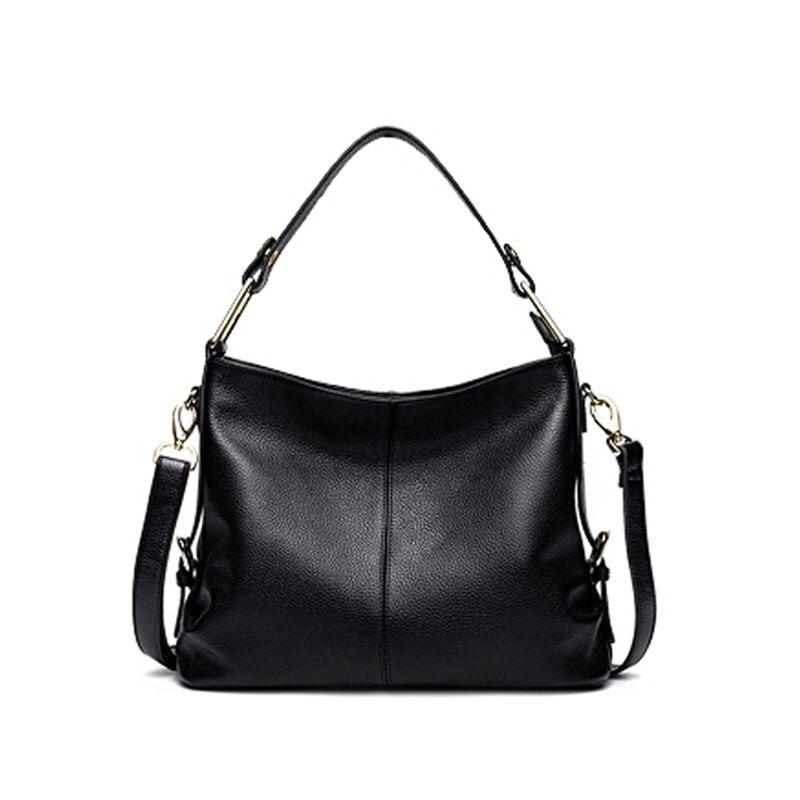 LOEIL First layer cowhide leather handbag large capacity handbag fashion tide shoulder Messenger bag цена