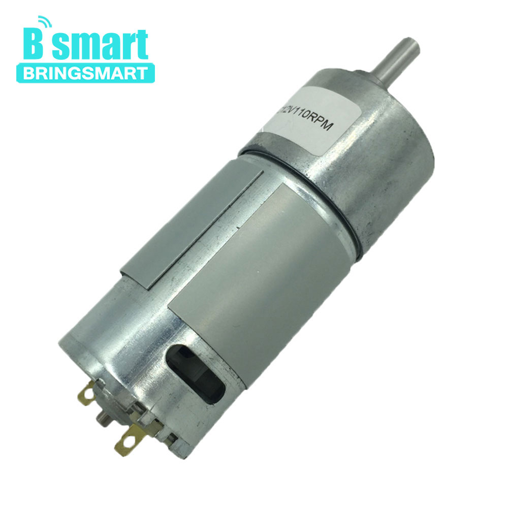 Bringsmart GB37-550 DC Geared Motor 12V Mini Reducer Gearbox Electric Motor 6V with Reversed for DIY Intelligent Vehicle MotorBringsmart GB37-550 DC Geared Motor 12V Mini Reducer Gearbox Electric Motor 6V with Reversed for DIY Intelligent Vehicle Motor