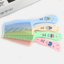 4 colors Eco-friendly Resin Comb Hair Cartoon Wide-toothed Hairdressing Comb Natuurlijke Veilig for Children Care Hair Comb