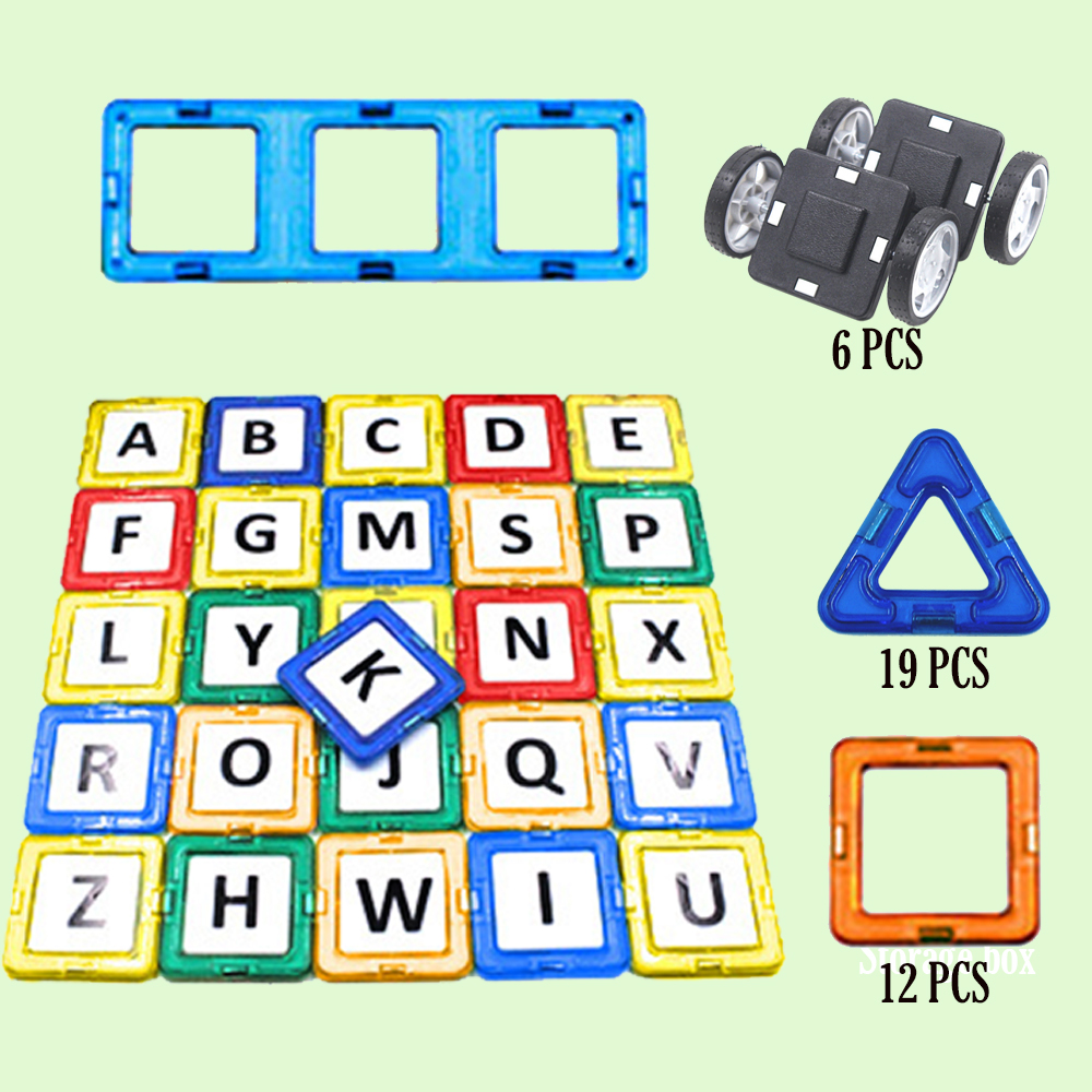 64PCS Construction Set Magformers Magnetic Blocks Magnet Funny Toy for Kids DIY Building Bricks Game Gift to Children