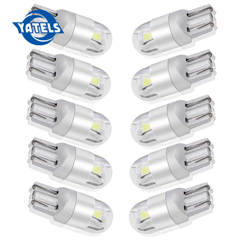10PCS W5W T10 3030 LED Signal Light Auto Car 12V 194 Bulb Parking Position Width Lamp Side Clearance Lights interior light