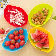 New Candy Color Creative Living Room Round Fruit Plate Plastic Nuts Snacks Candy Melon Fruit Bowl Dessert Melon Dish