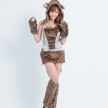beautiful furry animal costumes halloween costumes for women women sexy big bad wolf costume adult animal cosplay costumes - Womens Wolf Halloween Costume