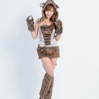 Beautiful Furry Animal Costumes Halloween Costumes For Women Women Sexy Big Bad Wolf Costume Adult